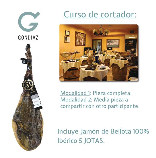Curso de Cortadores Jamón Bellota 100% 5 Jotas