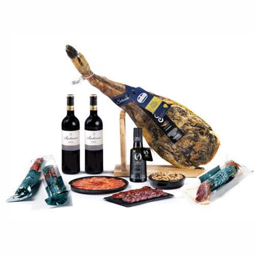 lote de productos con paleta iberica
