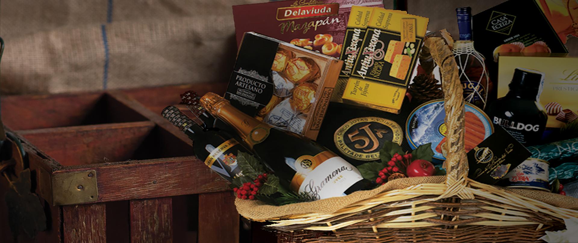 cesta productos navidad